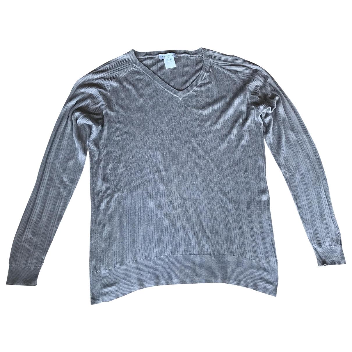 Paul & Joe \N Pullover.Westen.Sweatshirts  in  Khaki Baumwolle