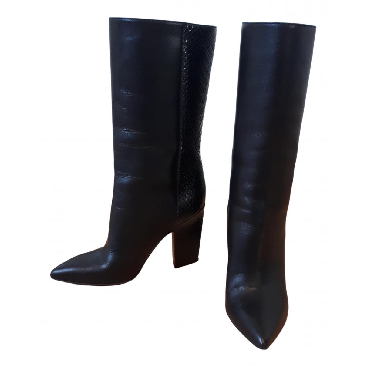 Valentino Garavani - Bottes   pour femme en cuir - noir