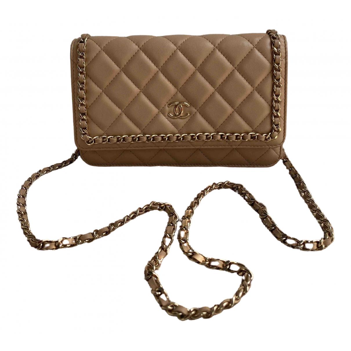Chanel Wallet on Chain Handtasche in  Beige Leder