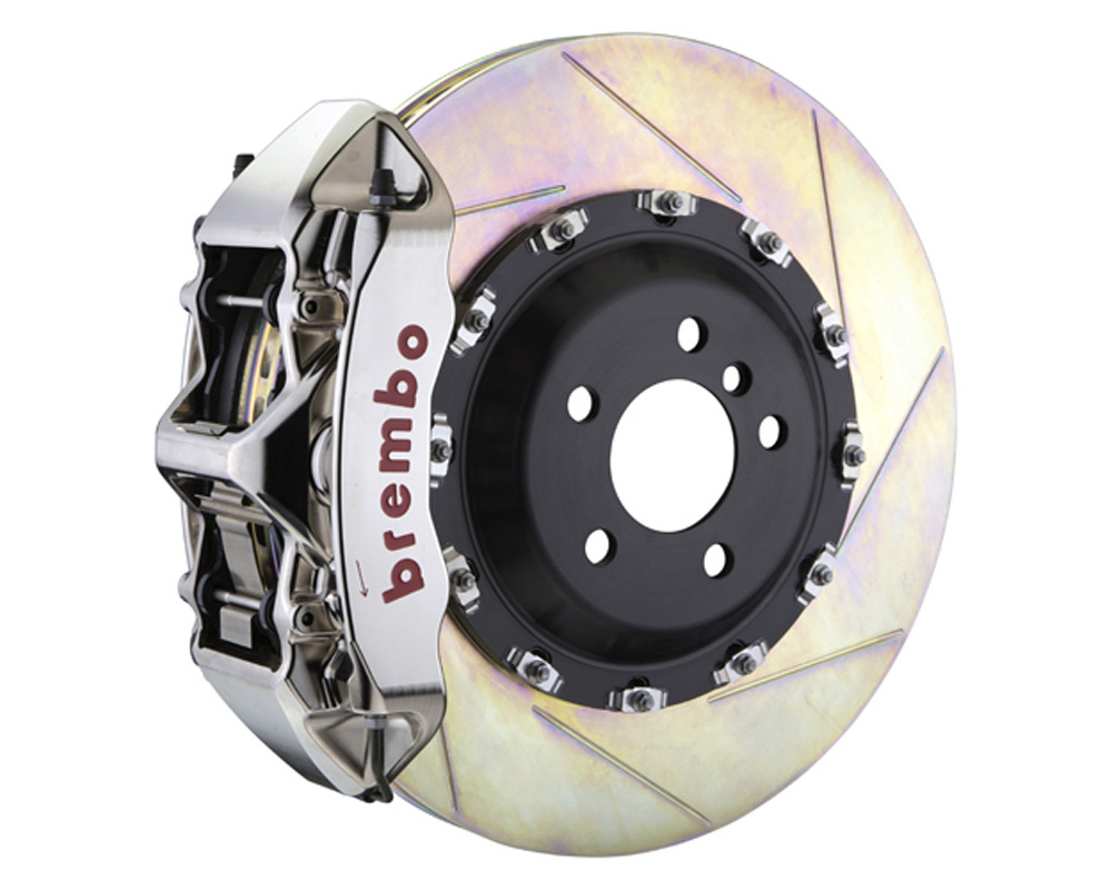 Brembo GT-R 411x34 2-Piece 6 Piston Nickel Plated Slotted Front Big Brake Kit