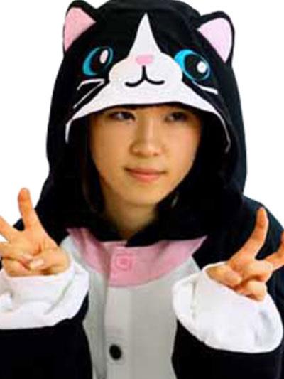Milanoo Disfraz Halloween Kigurumi para disfraz de gato negro Halloween
