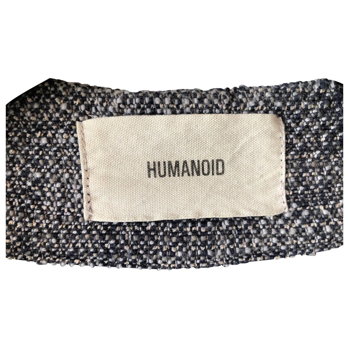 Humanoid \N Lederjacke in  Blau Baumwolle