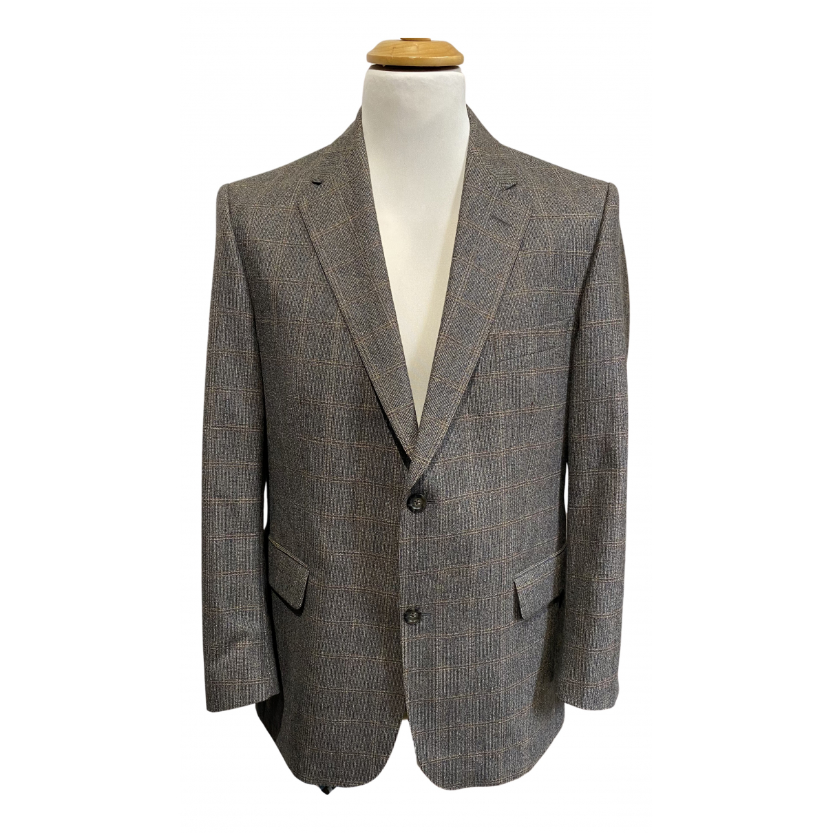 Burberry N Brown Wool jacket  for Men 52 IT
