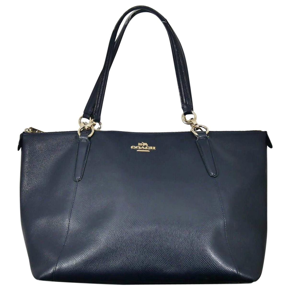 Coach Crossgrain Kitt Carry All  Navy Leather handbag for Women \N
