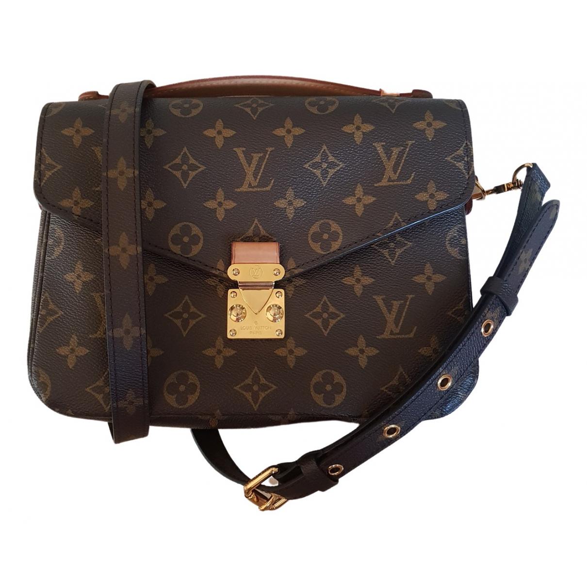 Louis Vuitton - Sac a main Metis pour femme en toile