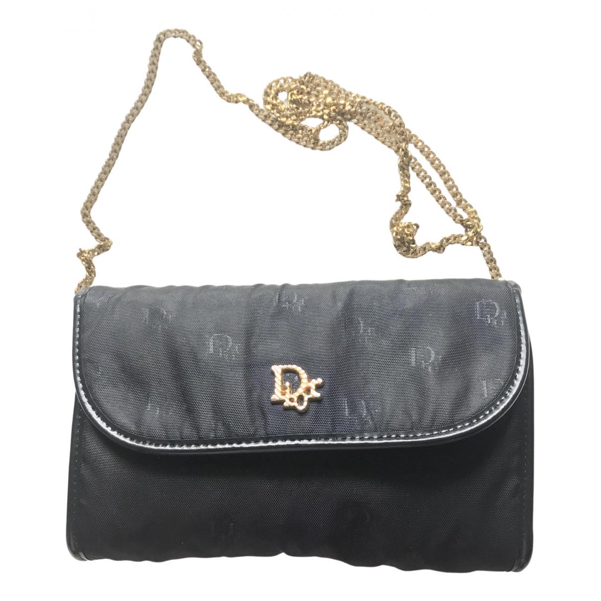 Dior \N Clutch in  Schwarz Leinen
