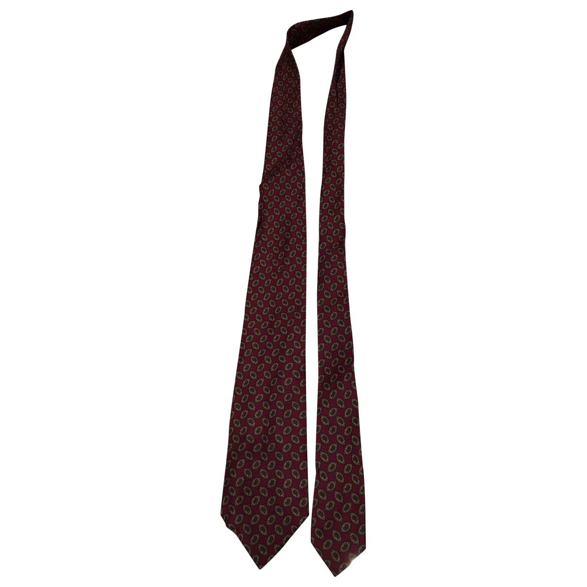 Autre Marque \N Krawatten in  Bordeauxrot Seide