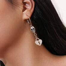 Skull Decor Drop Earrings