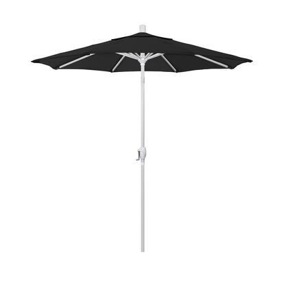 GSPT758170-5408 7.5' Pacific Trail Series Patio Umbrella With Matted White Aluminum Pole Aluminum Ribs Push Button Tilt Crank Lift With Sunbrella 1A