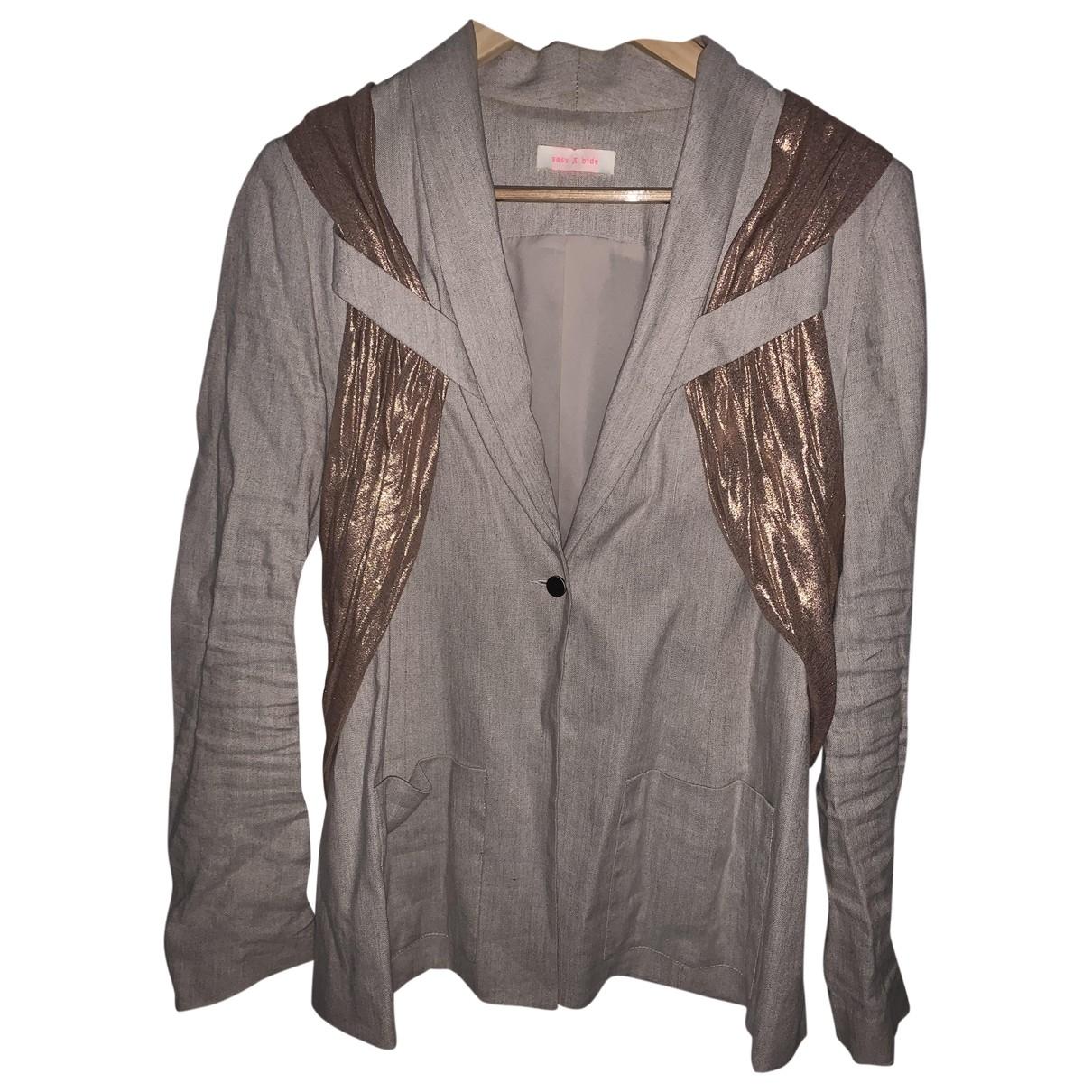 Sass & Bide \N Beige Linen jacket for Women 8 UK