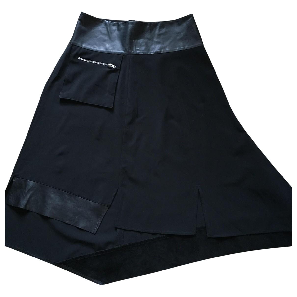Falda midi de Cuero Ivan Grundhal