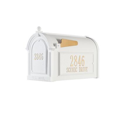 16509 Aluminum Capitol Mailbox Side Plaques And Door Plaque Package in