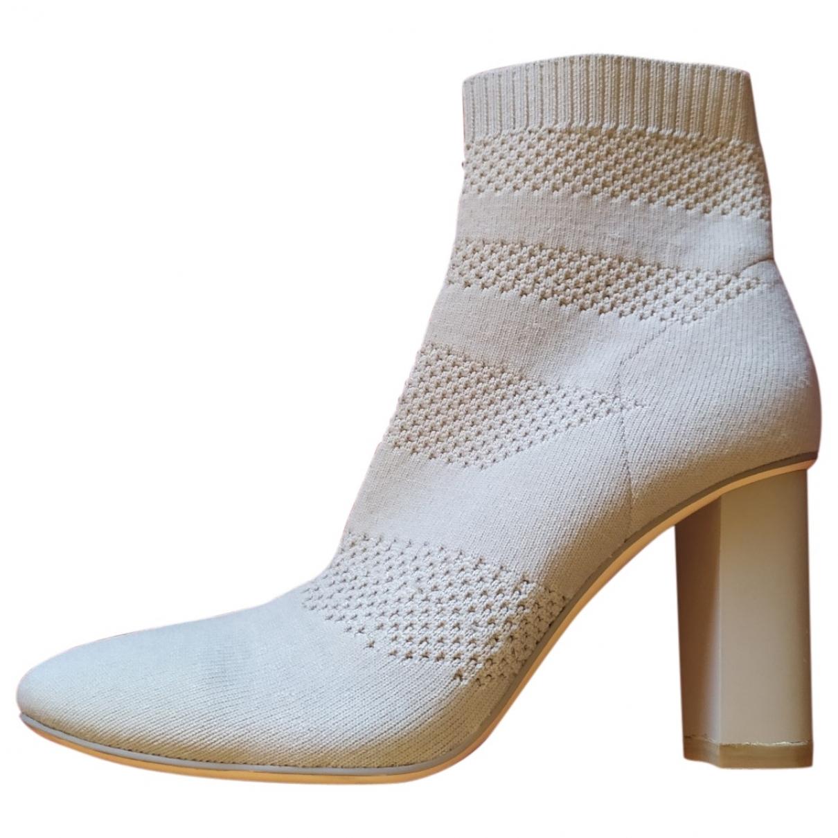 Zara \N Beige Cloth Ankle boots for Women 36 EU