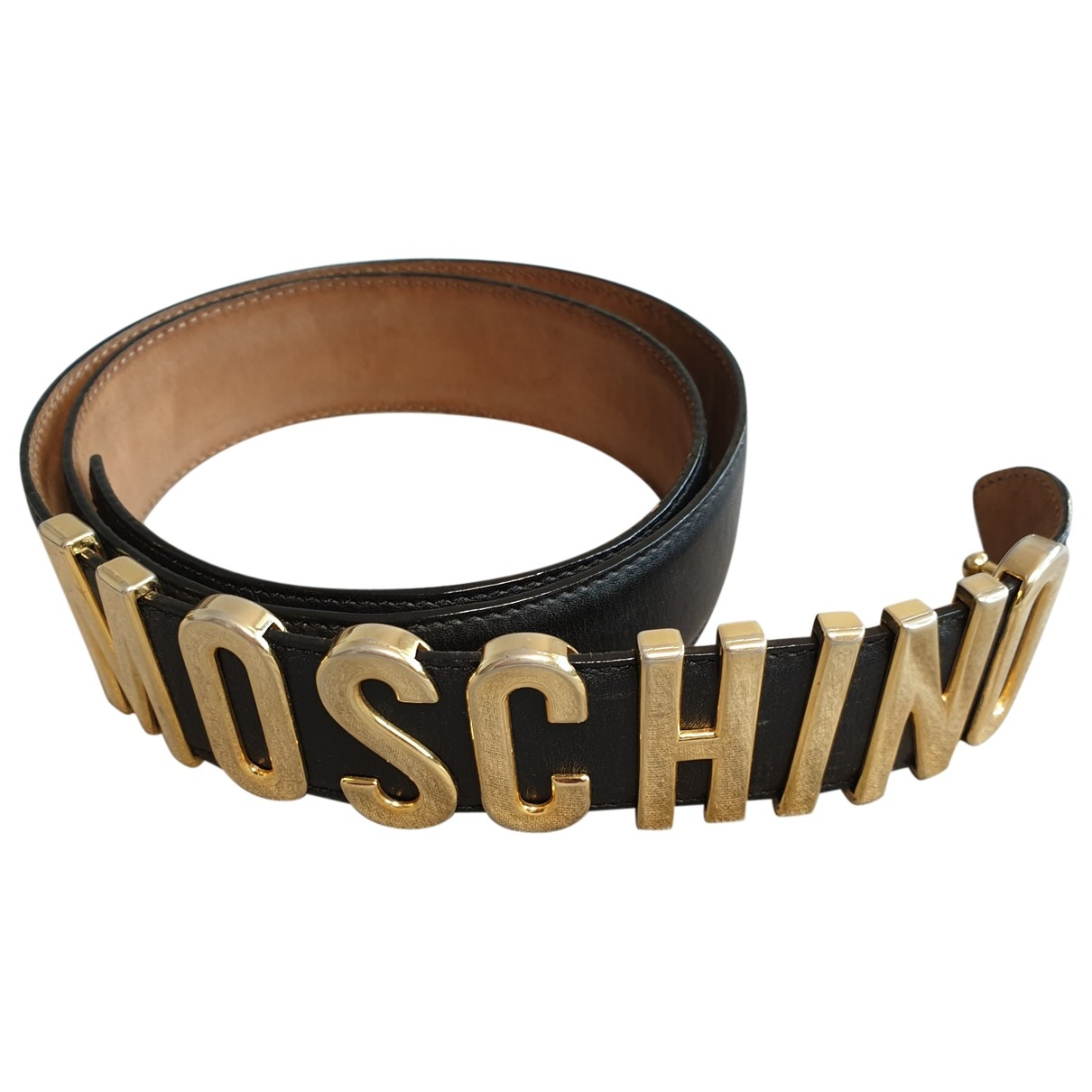 Moschino \N Black Leather belt for Women 90 cm