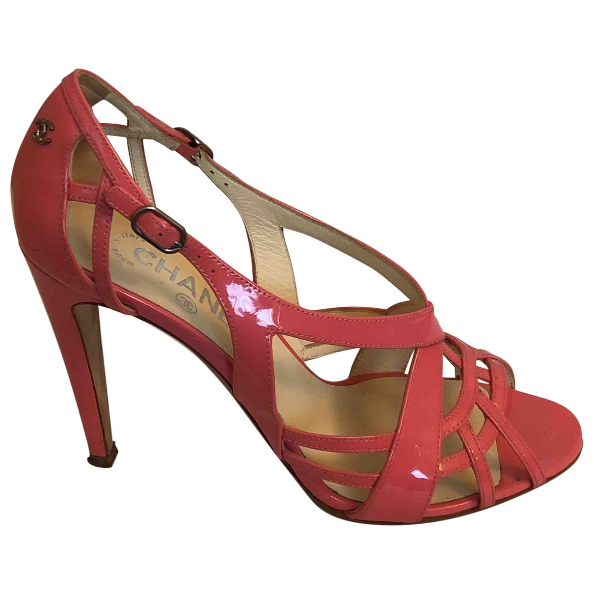 Chanel \N Pink Patent leather Sandals for Women 39 EU