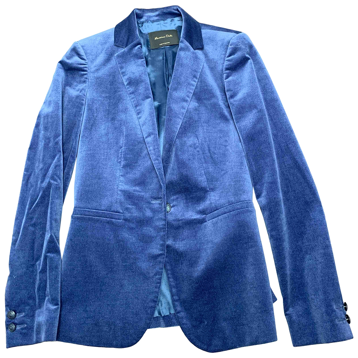 Massimo Dutti \N Jacke in  Blau Baumwolle