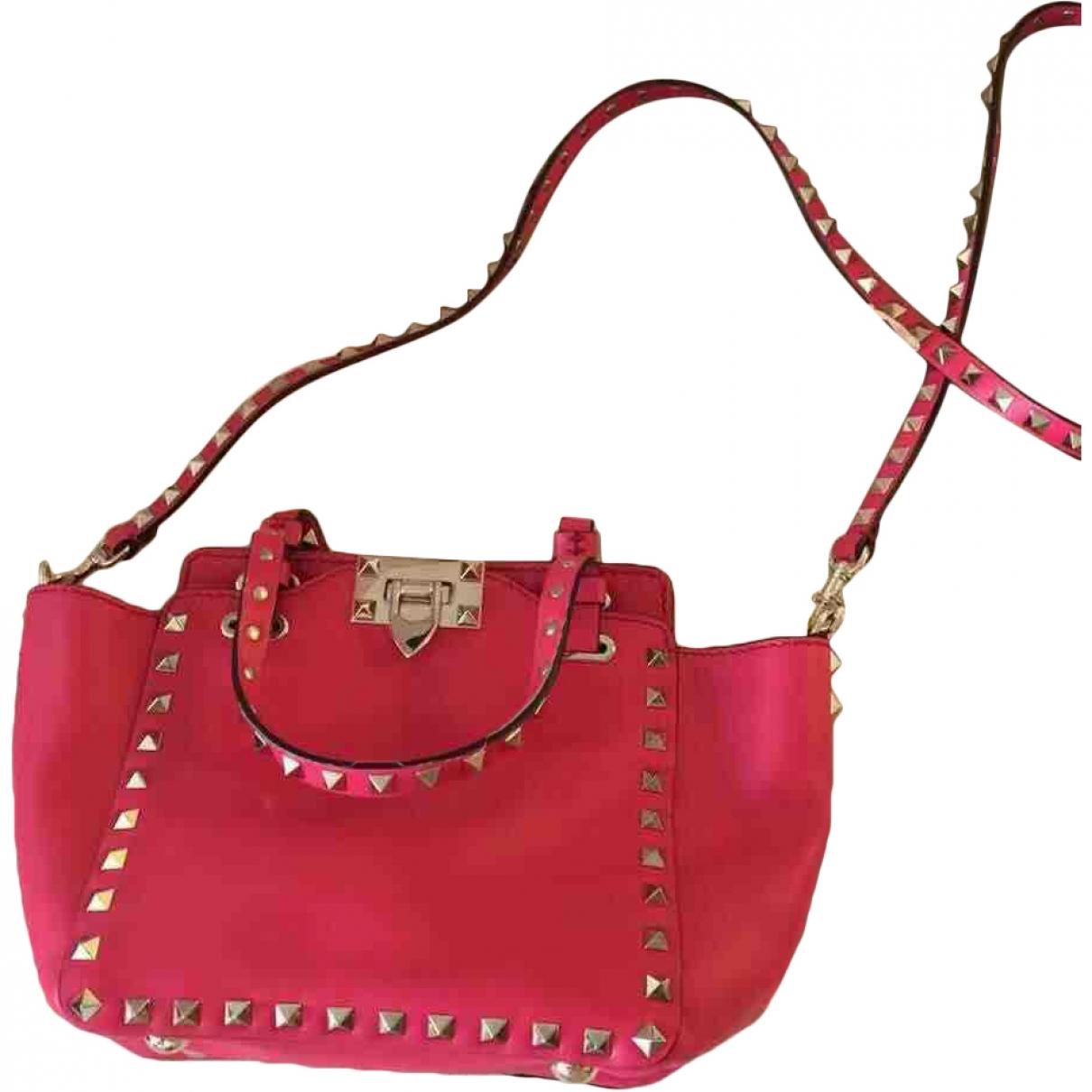 Valentino Garavani Rockstud Handtasche in  Rosa Leder