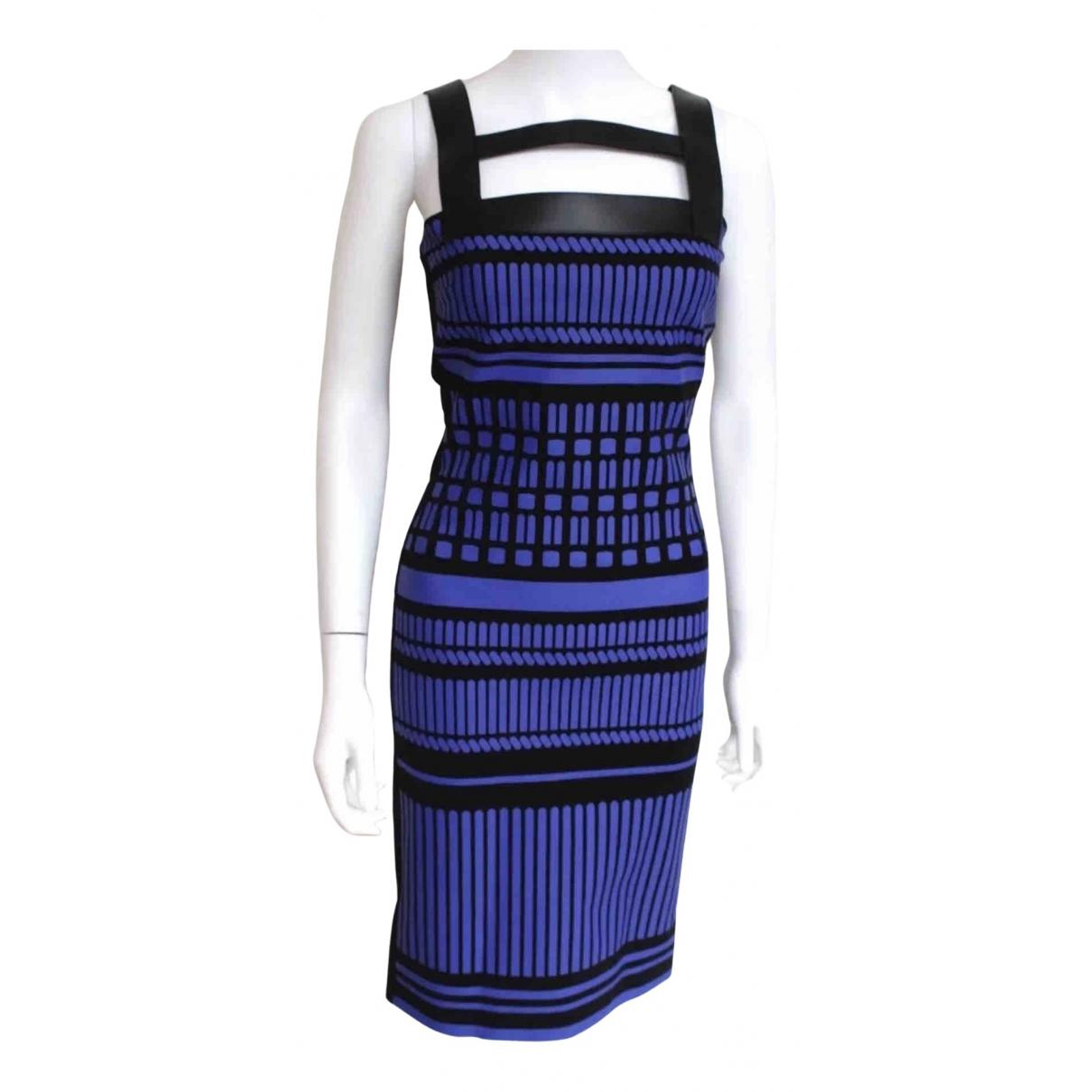 David Koma \N Kleid in  Marine Viskose