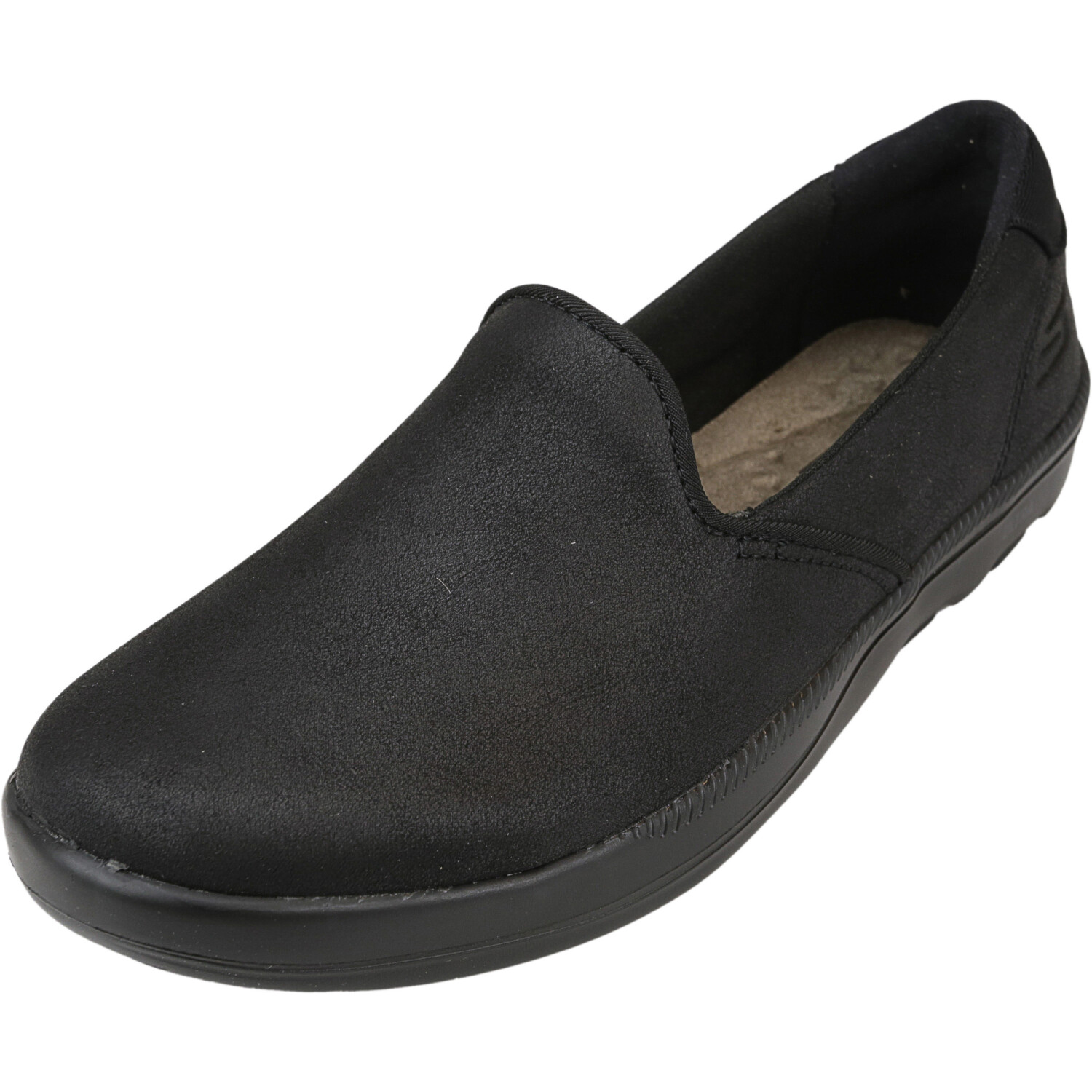 Skechers Women's On-The-Go Bliss - Empress Black Ankle-High Fabric Slip-On Shoes 5.5M