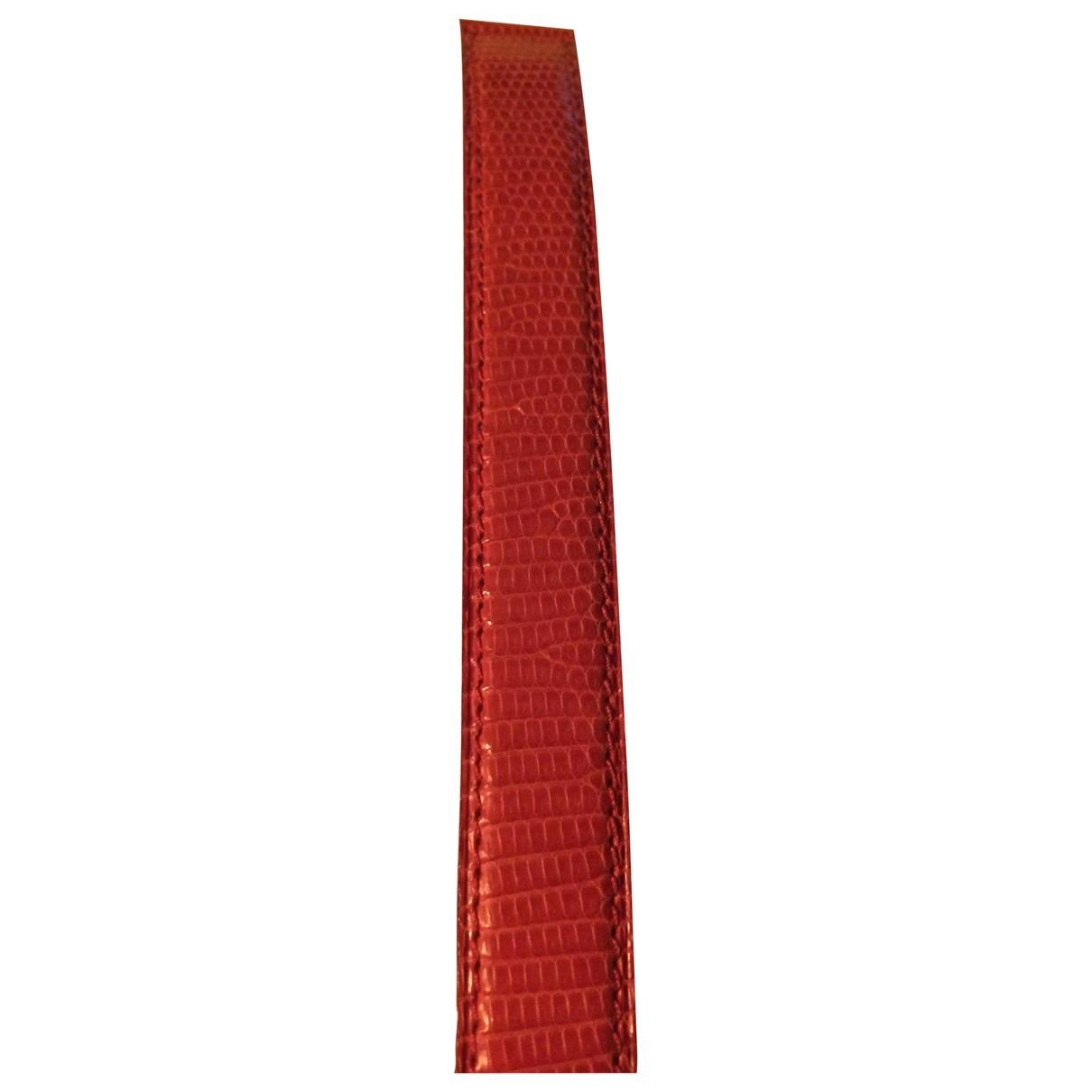 Poiray - Montre   pour femme en cuir - rouge