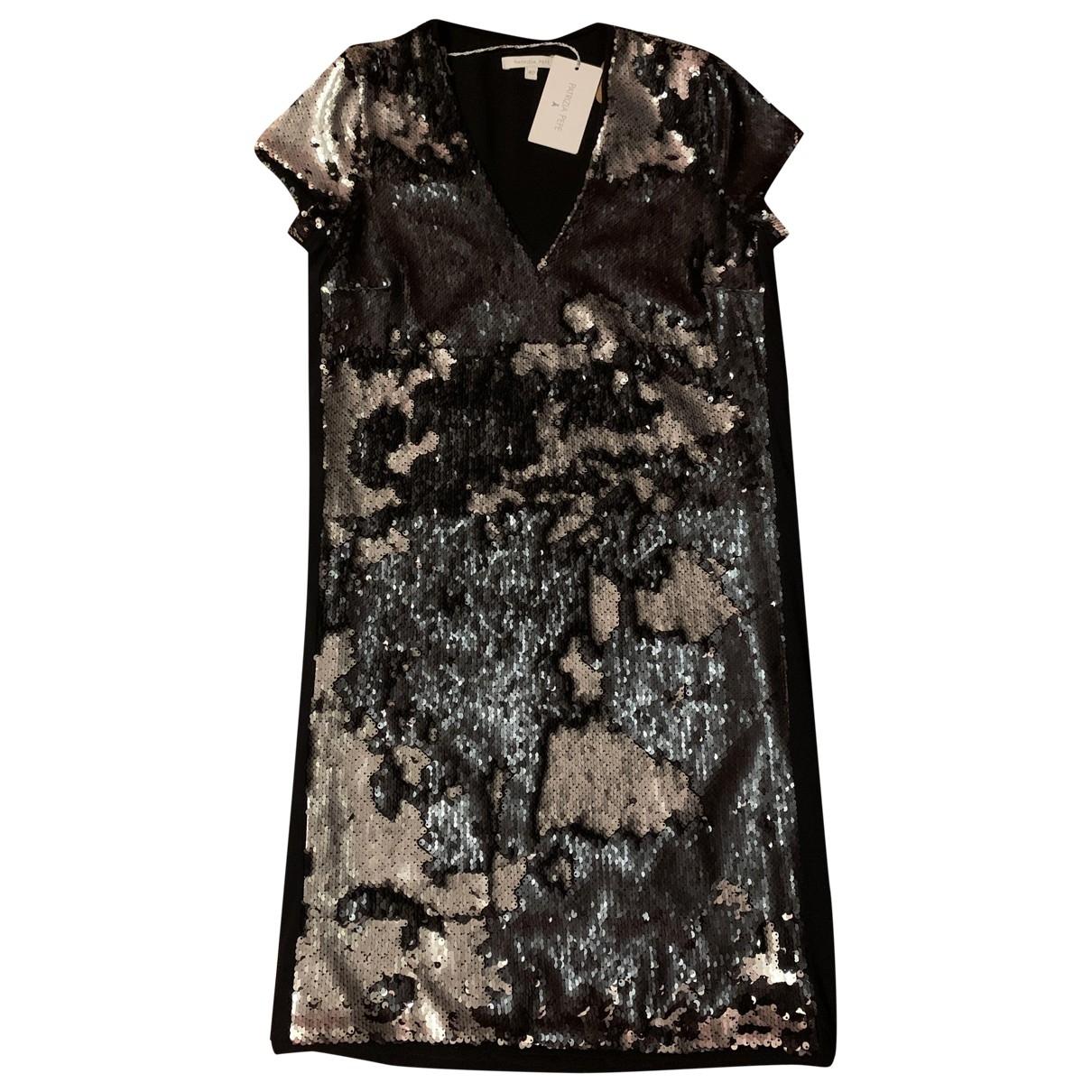 Patrizia Pepe - Robe   pour femme en a paillettes - noir