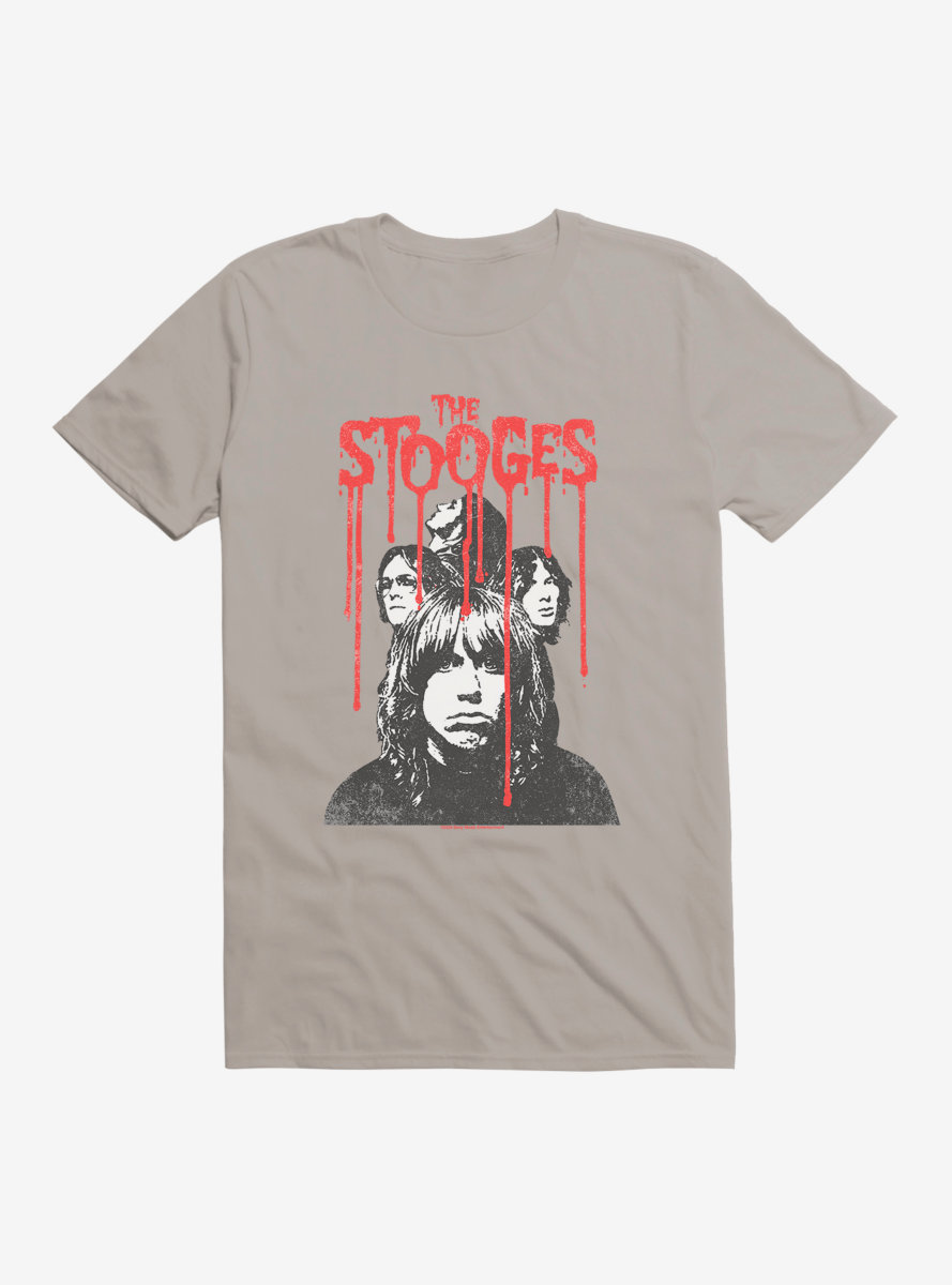 Iggy Pop The Stooges Red Font T-Shirt