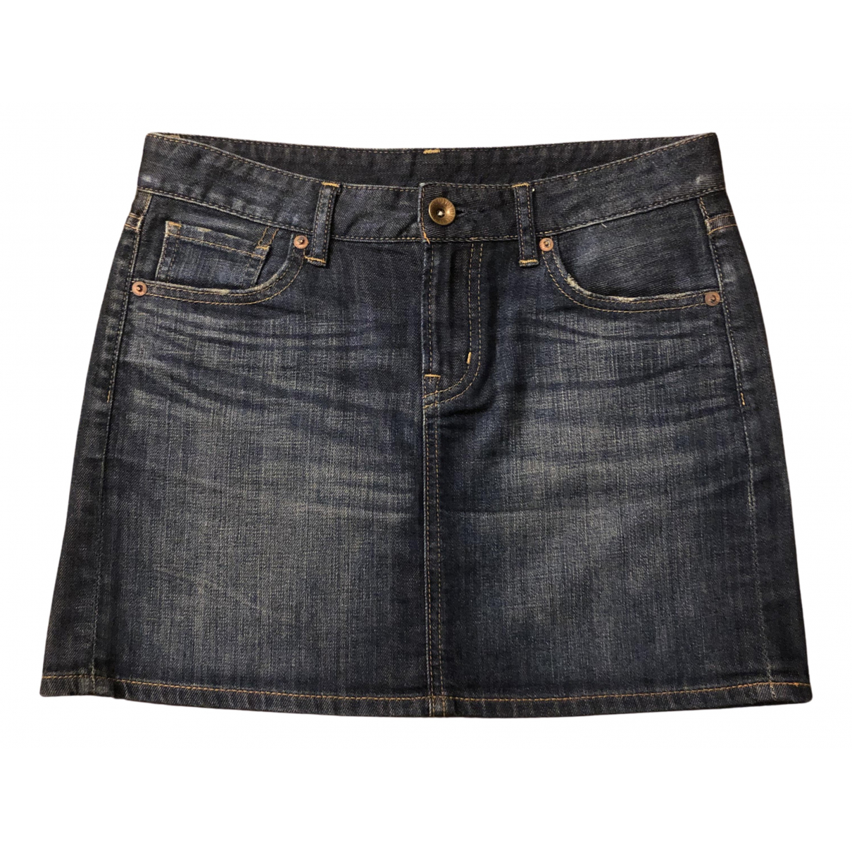 Uniqlo N Navy Denim - Jeans skirt for Women 34 FR