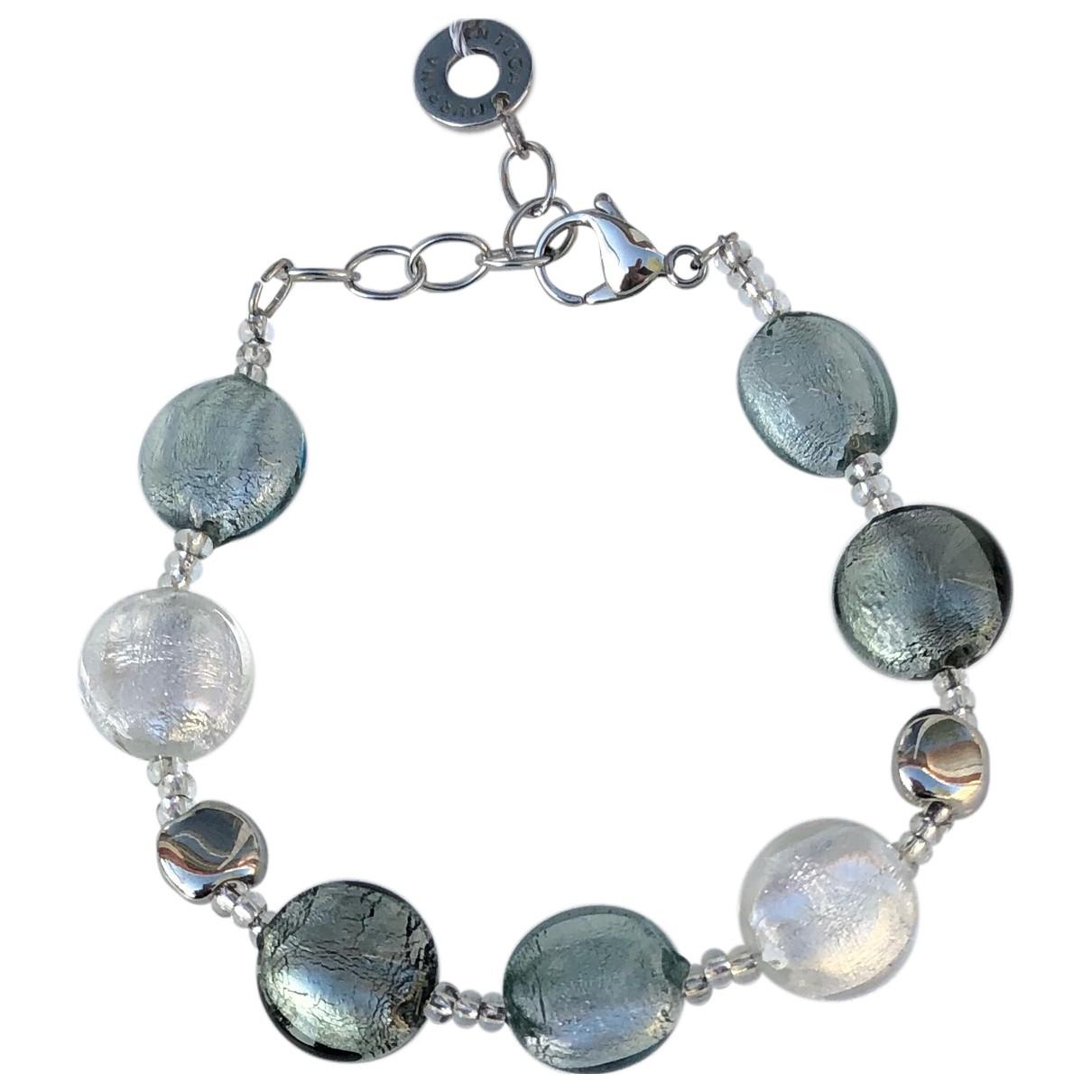 - Bracelet   pour femme en verre - argente