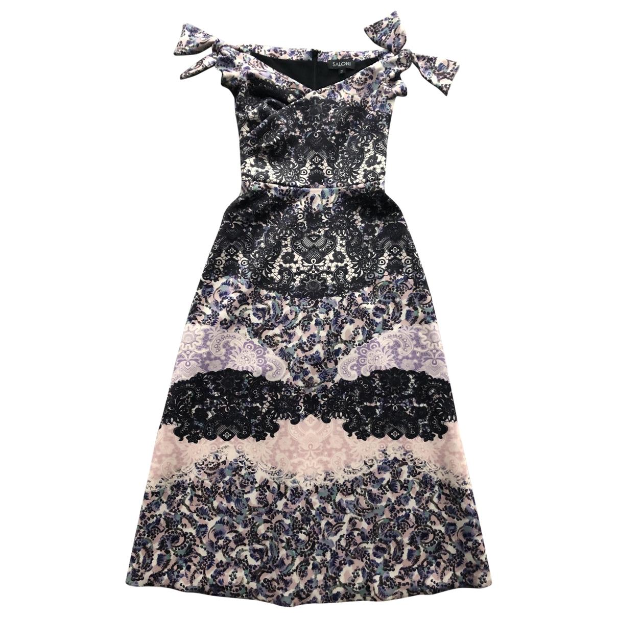 Saloni \N Kleid in  Bunt Polyester