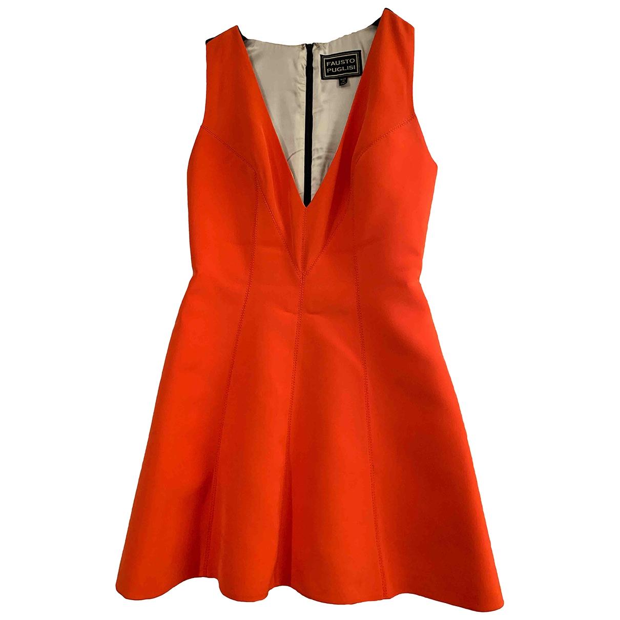 Fausto Puglisi \N Kleid in  Rot Seide