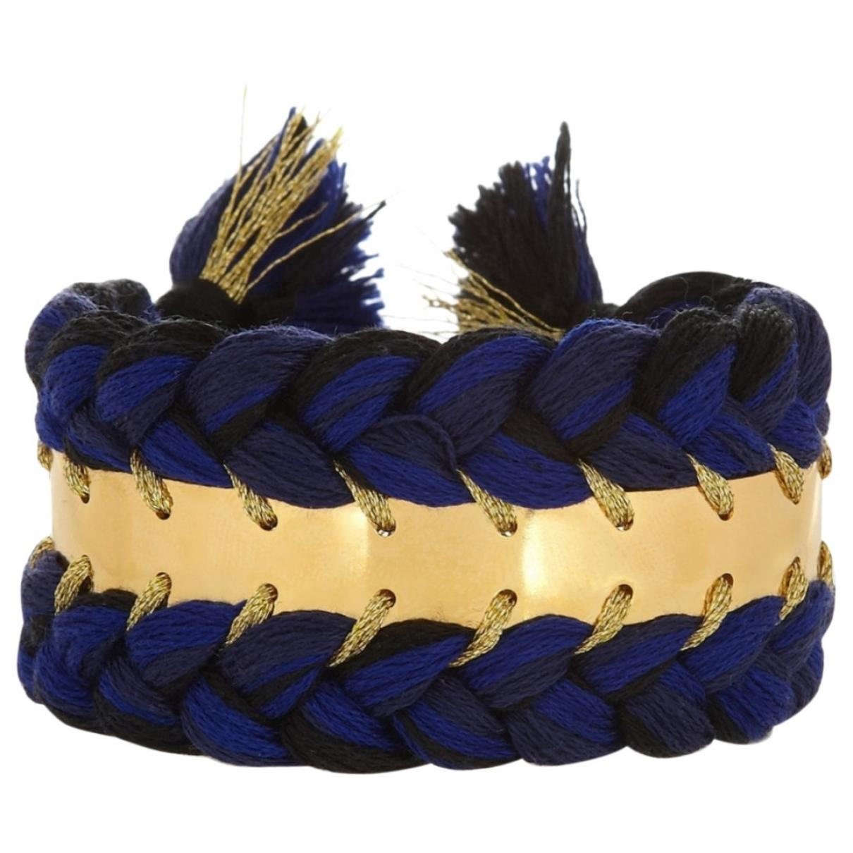 Aurelie Bidermann Copacabana Armband in  Blau Vergoldet