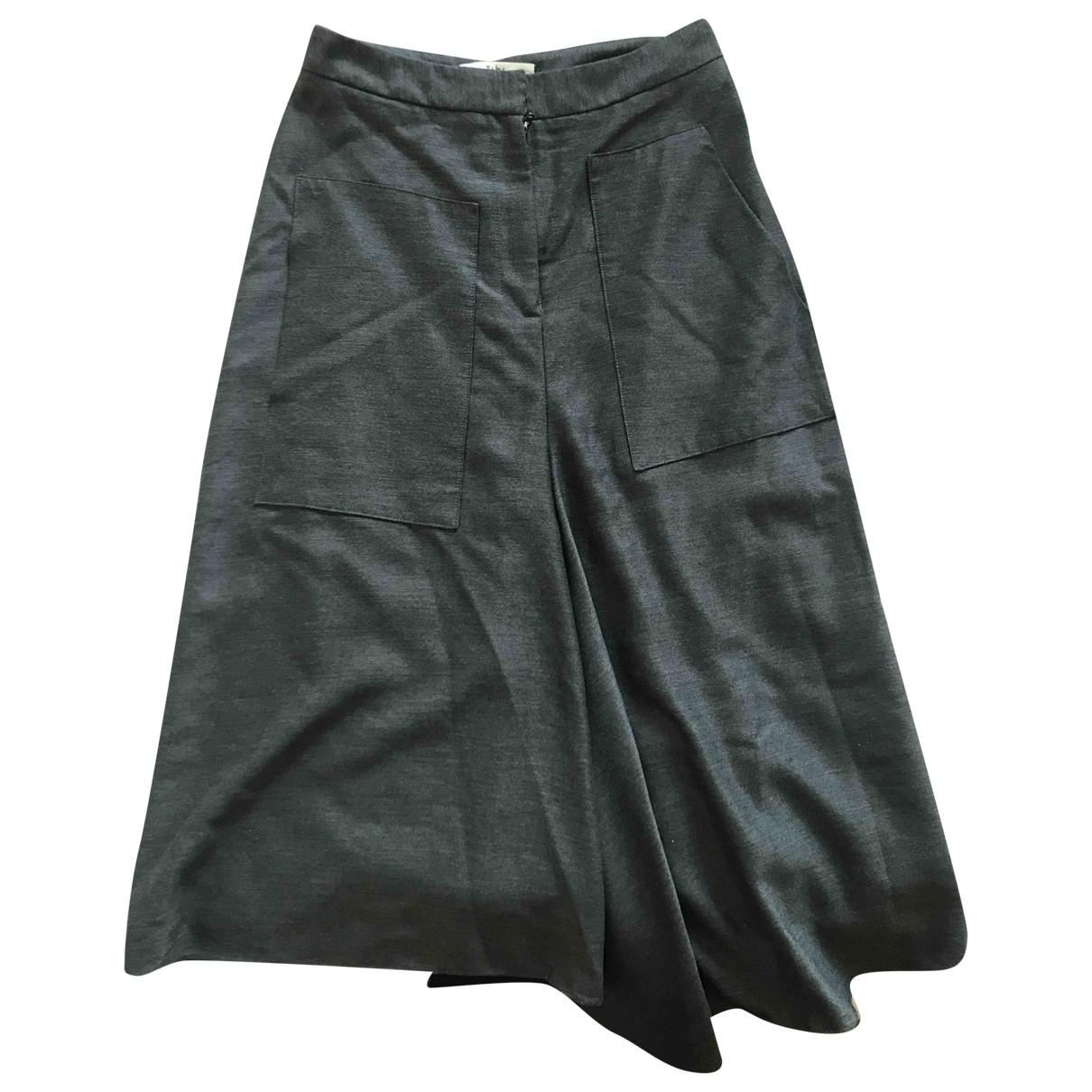 Tibi \N Grey Cotton skirt for Women 38 FR