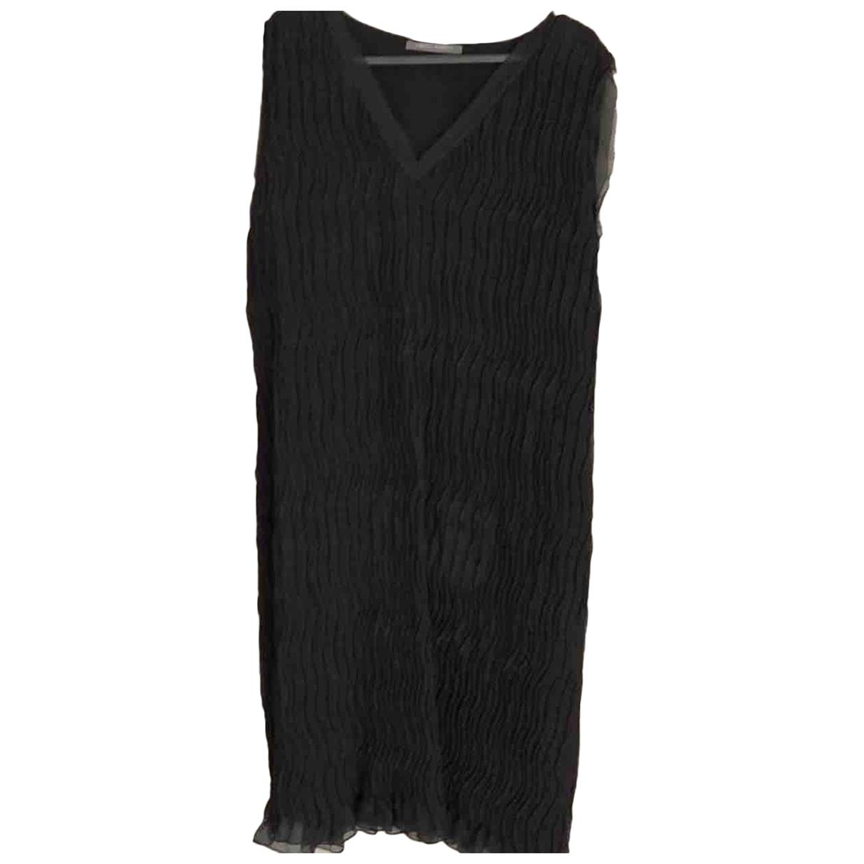 Alberta Ferretti \N Kleid in  Schwarz Baumwolle - Elasthan