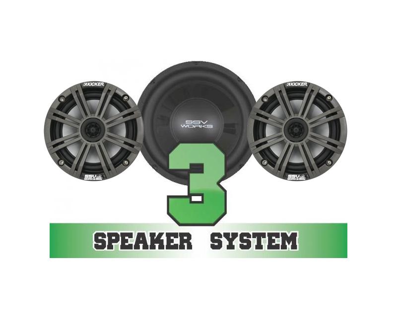 SSV Works RANGER-3K Complete 3 Speaker Kicker System Polaris Ranger 800 EFI 13-14