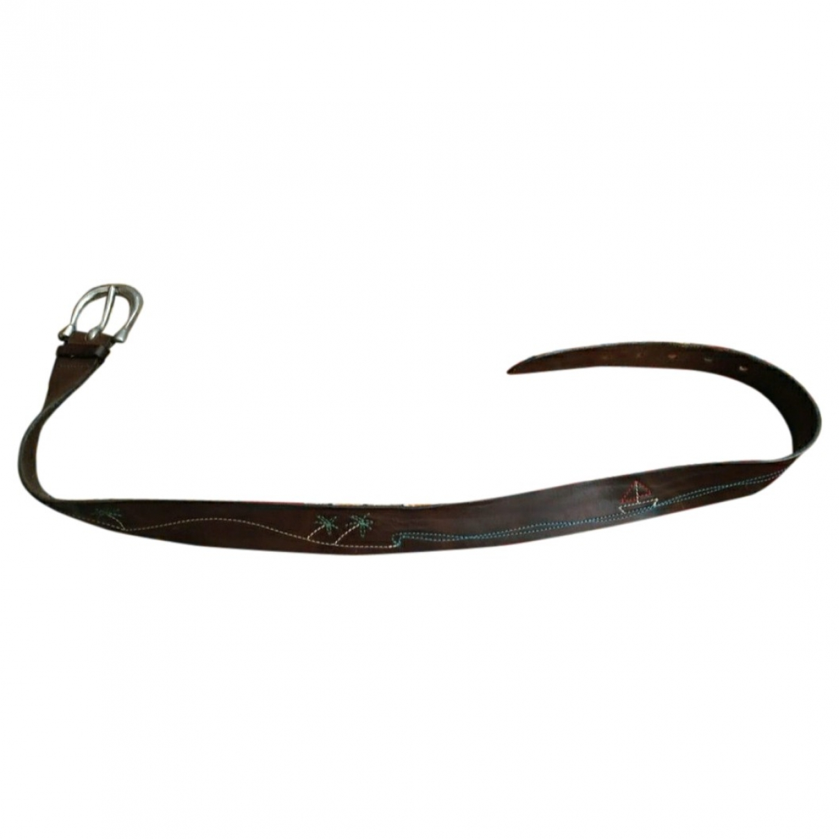 Buttero \N Brown Leather belt for Men L international