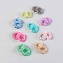 18pcs Simple Telephone Line Hair Tie