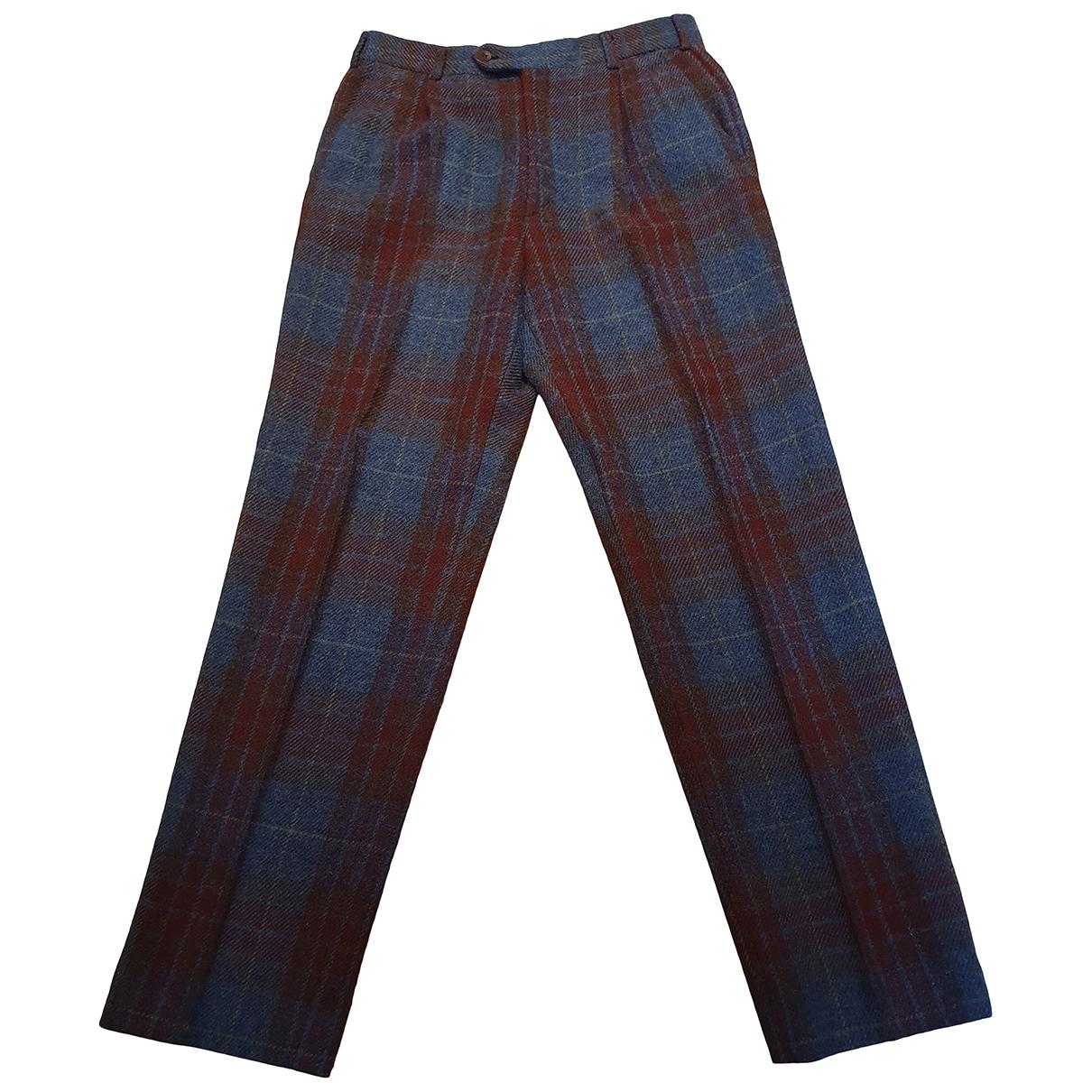 Hermès \N Multicolour Wool Trousers for Men 54 IT