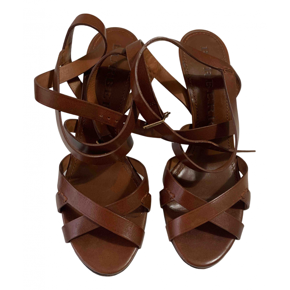 Burberry \N Brown Leather Heels for Women 39 EU