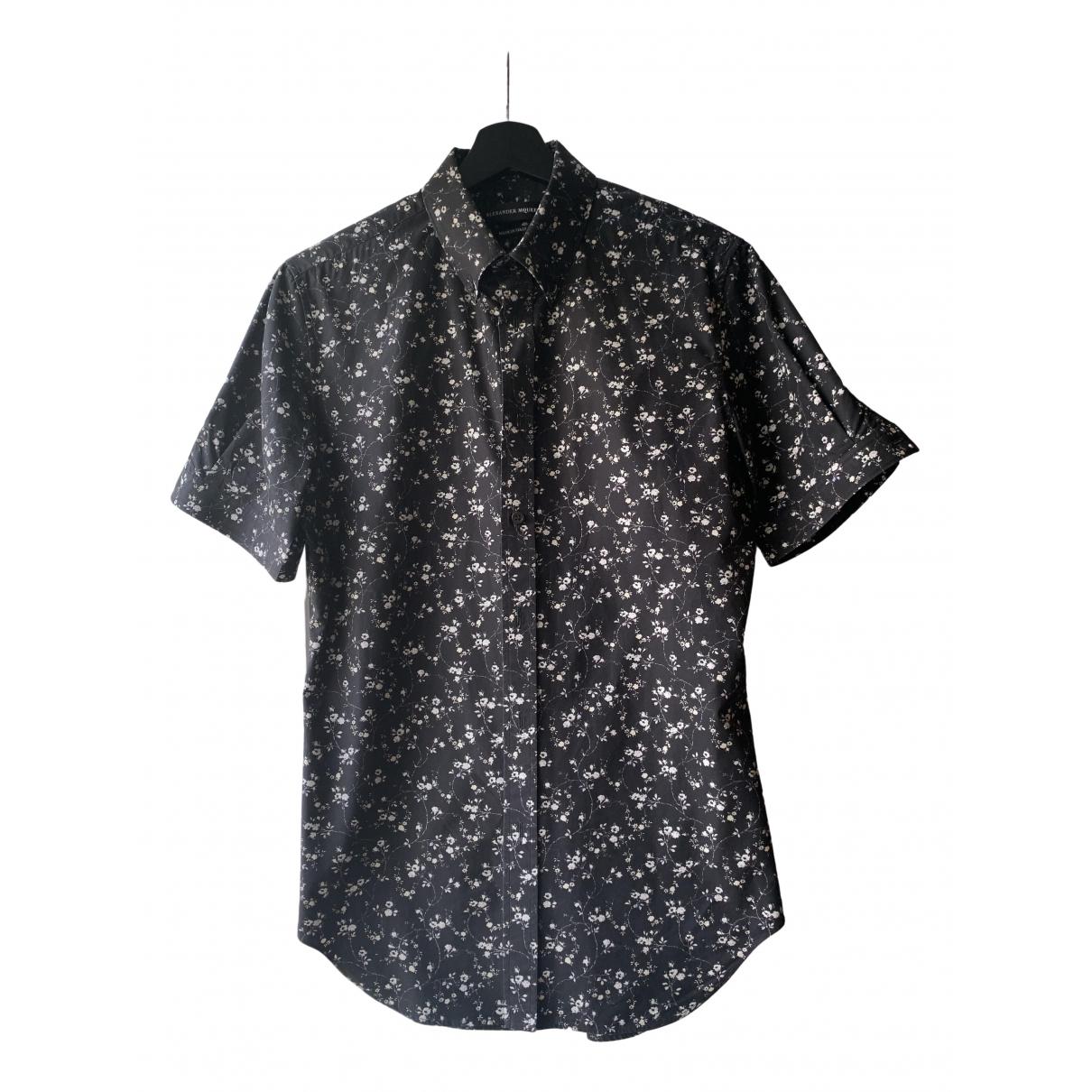 Alexander Mcqueen \N Black Cotton Shirts for Men M International