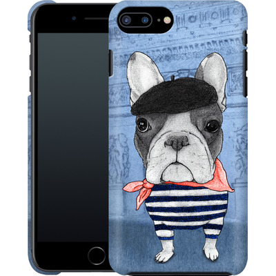 Apple iPhone 7 Plus Smartphone Huelle - French Bulldog with Arc de Triomphe von Barruf