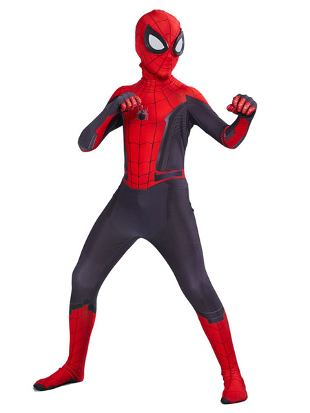 Milanoo Marvel Comics Spider Man lejos de casa Mono Kid cosplay de Halloween