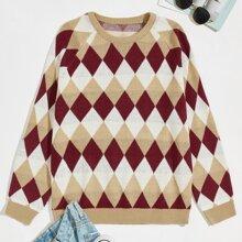 Pullover mit Raglan Ärmeln