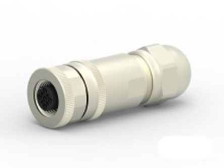 TE Connectivity Circular Connector, 4 contacts Cable Mount M12 Socket, Screw IP67, IP68
