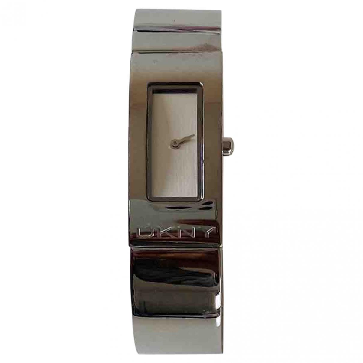Donna Karan \N Uhr in  Metallic Stahl