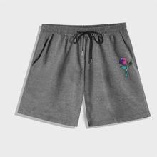 Guys Flower Graphic Shorts