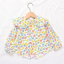 Toddler Girls Allover Floral High Low Blouse