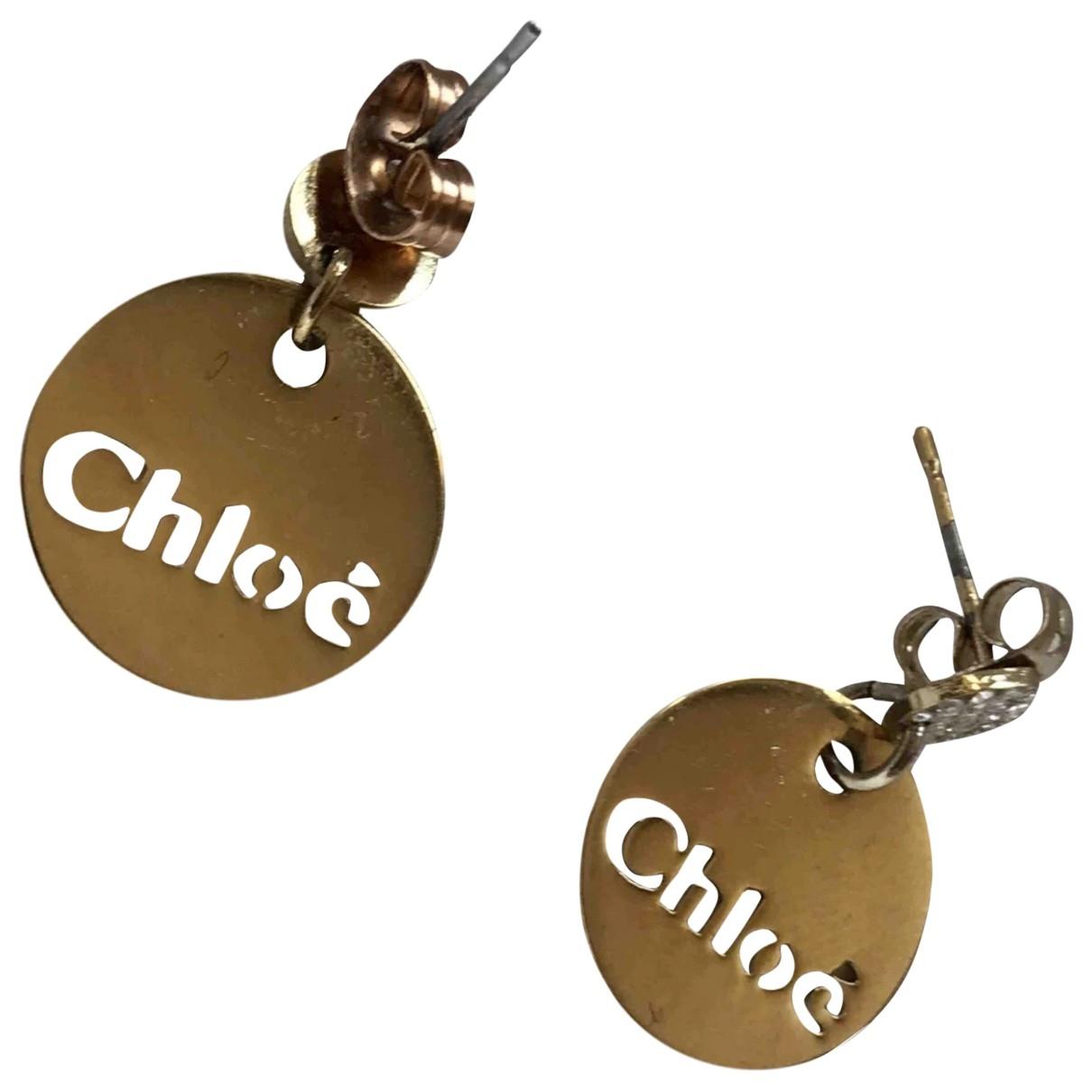 Chloe - Boucles doreilles   pour femme en metal - dore