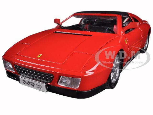 Ferrari 348 TS Red 1/18 Diecast Model Car by Bburago
