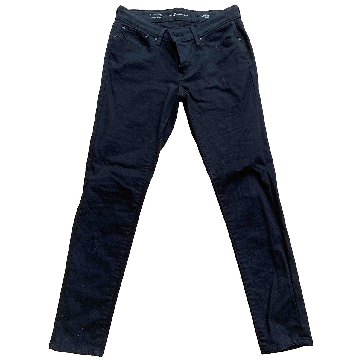 Levi's \N Black Denim - Jeans Jeans for Women 36 FR