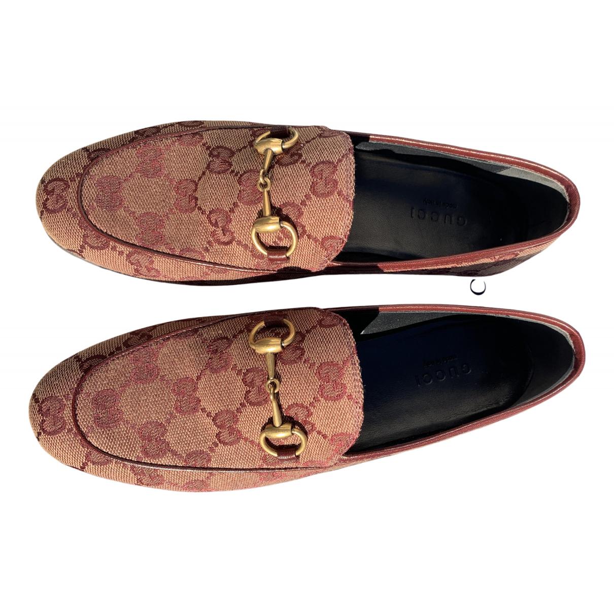 Gucci Jordaan Pink Cloth Flats for Women 35 EU